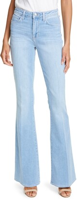 L'Agence Bell High Waist Flare Jeans