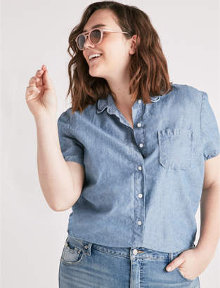 Lucky Brand Tied Cropped Btn Up Shirt
