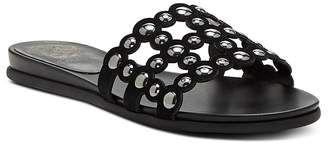 Vince Camuto Women's Ellanna Studded Leather Cage Slide Sandals