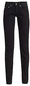 Helmut Lang Women's Under Construction Masculine Drainpipe Low-Rise Skinny Jeans