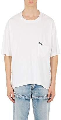 Balenciaga Men's Slouchy-Pocket Cotton Oversized T-Shirt