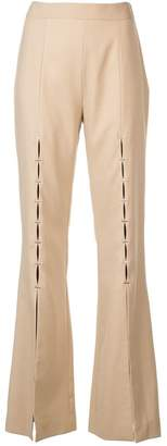 Jonathan Simkhai tailored front slit trousers