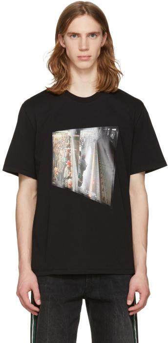 MSGM Black Surveillance Camera T-Shirt