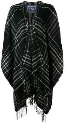 Woolrich tartan cape