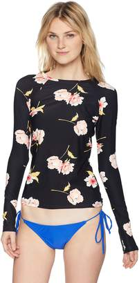 Billabong Women's Floral Dawn Long Sleeve Rashguard