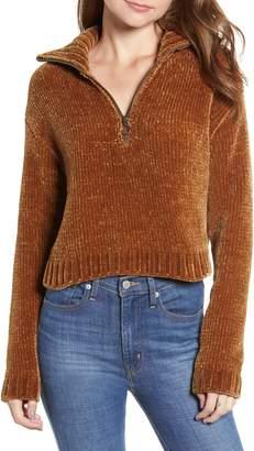 Thread & Supply Half Zip Chenille Pullover