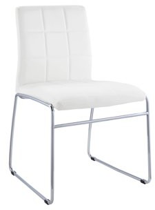 ACME Furniture ACME Gregor White Faux Leather Side Chair, Set of 2