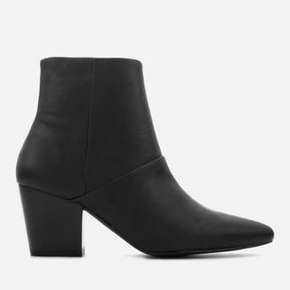 Sol Sana Women's Chrissy Leather Heeled Ankle Boots - Black