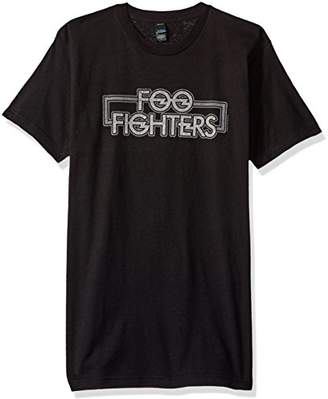 FEA Men's Foo Fighters Outlined Logo Mens Soft T-Shirt