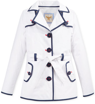 Tommy Hilfiger Piped Trench Coat, Big Girls (7-16) $99.50 thestylecure.com