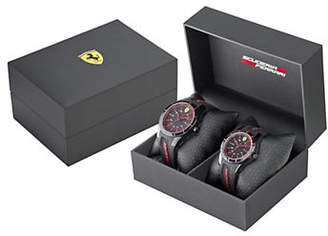 Ferrari Mens Two-Watch Scuderia Watch Gift Set