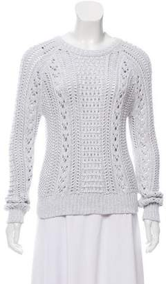 Cotton by Cashmere Woven Knit Sweater