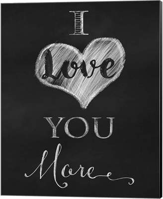 Metaverse Chalkboard I Love You More By Tina Lavoie Canvas Art