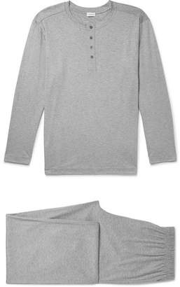 Zimmerli Melange Cotton-Jersey Pyjama Set - Gray