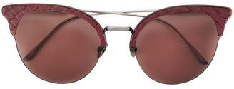 Bottega Veneta circle tinted sunglasses