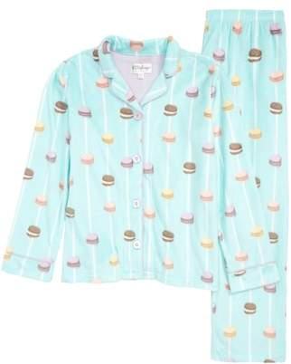 PJ Salvage Long Sleeve Notch Collar Pajamas