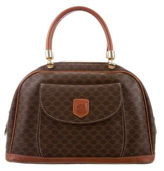 Celine Leather-Trimmed Macadam Bag
