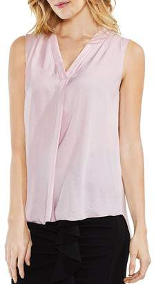 Vince Camuto Shirred High/Low Tank