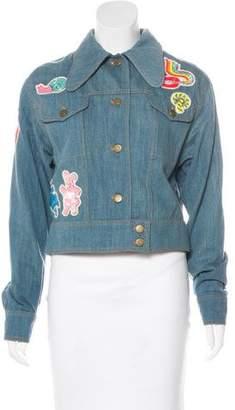 Olympia Le-Tan Denim Embellished Jacket w/ Tags