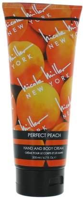 Nicole Miller Perfect Peach By Hand & Body Cream 6.7 Oz