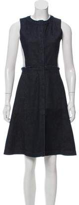 Proenza Schouler Sleeveless Denim Midi Dress