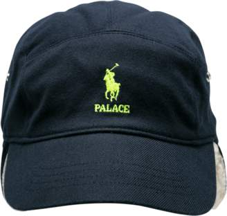 f007253df93 Palace Polar Fleece Hunting Cap Leather Canvas Wool Navy  Ralph Lauren X  Palace