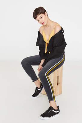 Ardene High Rise Side Stripe Jeans