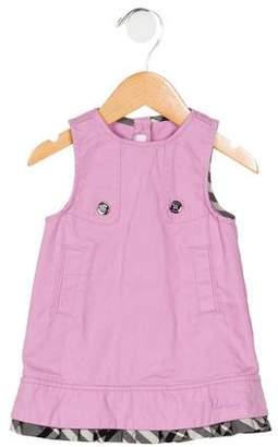 Burberry Girls' Denim Check-Accented Dress