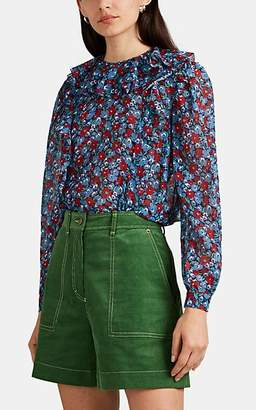 Robert Rodriguez Women's Juli Cotton-Silk Blouse - Blue