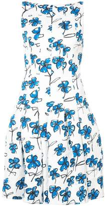 Oscar de la Renta flared floral print dress