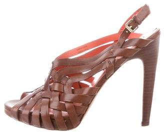 Via Spiga Leather Multistrap Sandals