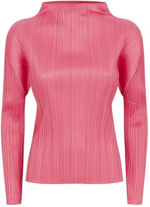 Pleats Please Pleated High Neck Top