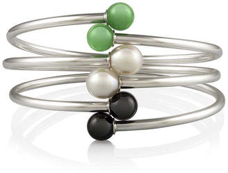 FINE JEWELRY Multi-Stone 3-pc. Sterling Silver Bangle Bracelet Set