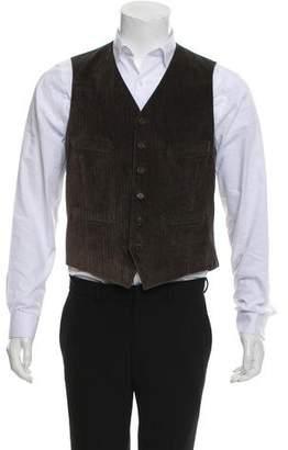 John Varvatos Corduroy Suit Vest w/ Tags