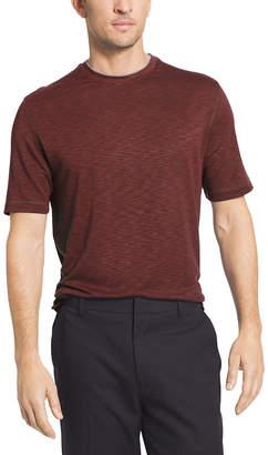 Van Heusen Short Sleeve Two Tone Slub Crew T-Shirt