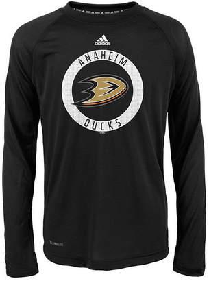 adidas Anaheim Ducks Practice Graphic Long Sleeve T-Shirt, Big Boys (8-20)
