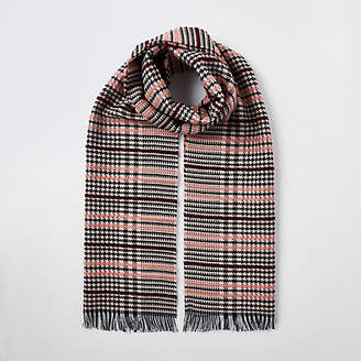 River Island Pink boucle check scarf