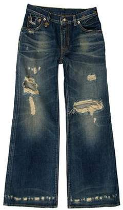 R 13 Distressed Mid-Rise Jeans w/ Tags