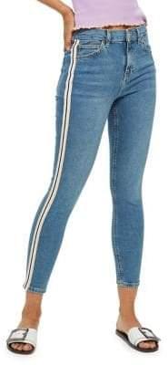 Topshop PETITE MOTO Side Stripe Jamie Jeans 30-Inch Leg