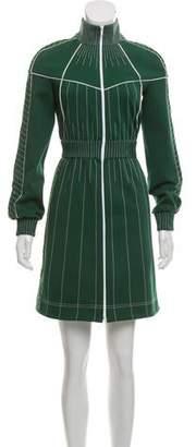 Valentino Zip Mini Dress