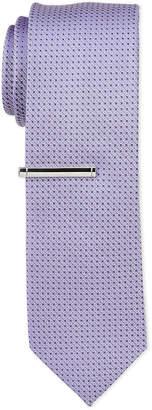 Calvin Klein Infinite Purple Pindot Tie