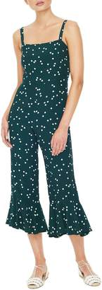 Faithfull The Brand Lea Flounce Hem Crop Jumpsuit