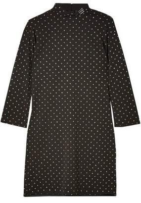 Marc Jacobs Crystal-Embellished Fil Coupé Crepe Mini Dress