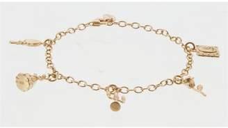 Disney Gold Plated Silver Beauty & the Beast Charm Bracelet