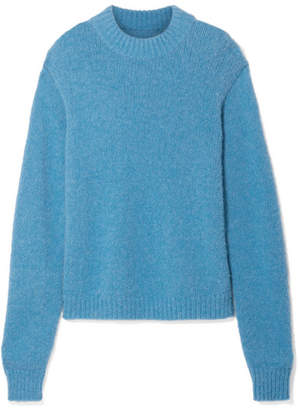 Tibi Cozette Oversized Alpaca-blend Sweater - Blue