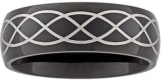 Celtic Generic 7.8mm Weave Design Band in Black Stainless Steel