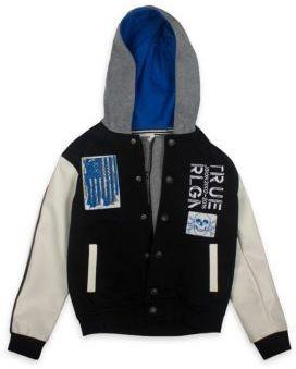 True Religion Toddler's, Little Boy's & Boy's Punk Varsity Jacket $129 thestylecure.com