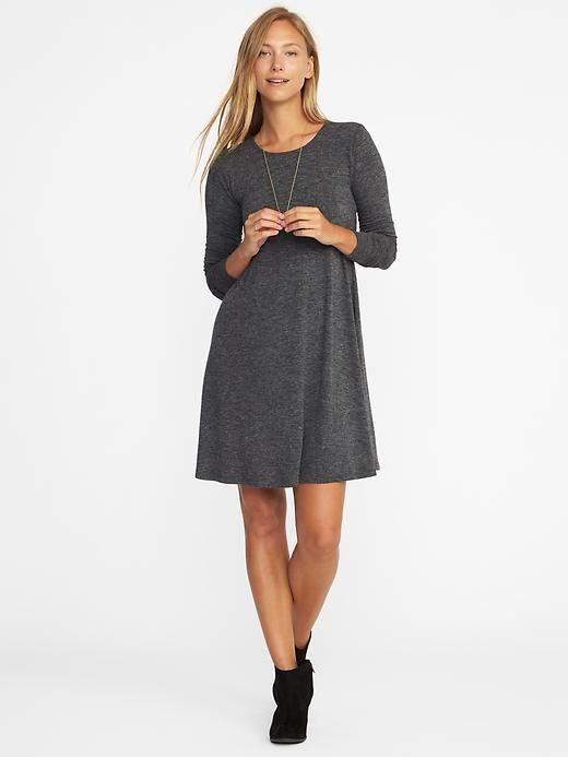 Textured-Knit Swing Dress for Women 13976383f16