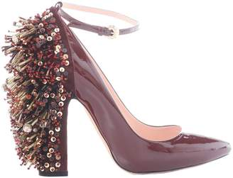 Rochas Burgundy Patent leather Heels
