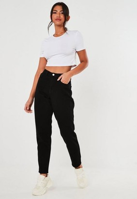 Missguided Black High Waisted Mom Jeans